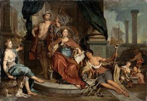 RIJKS: Nicolaas Verkolje: painting 1746