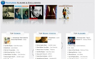 Screenshot of Music Hits of iTunes n Amazon
