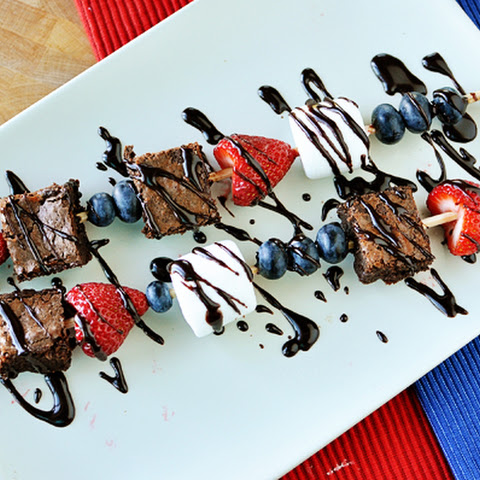 Brownie {& Fruit} Kebabs