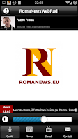 Screenshot of Roma News Web Radio