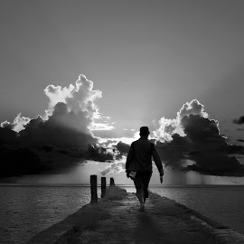 go to sunset by Robby Montolalu - Black & White Landscapes ( sangihe, indonesia, sunset, north sulawesi )