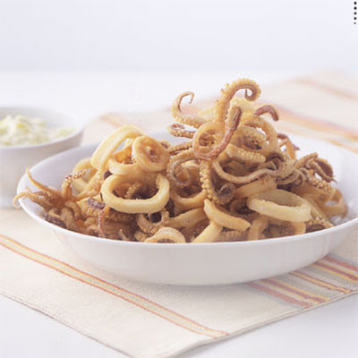 Fried Calamari with Peperoncini Mayonnaise
