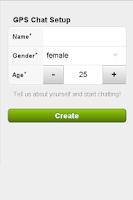 Screenshot of GPS Chat