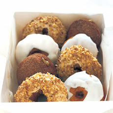 Maple-Glazed Sour Cream Doughnuts with Sugared-Walnut Streusel