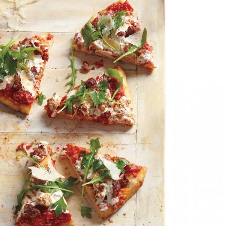 Sausage, Arugula, and Parsley Pizza Recipe   Yummly
