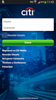 Screenshot of CitiMobile CO