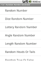 Screenshot of 7 in 1 Random Number Generator