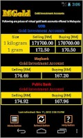 Screenshot of Malaysia Gold Price