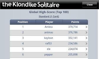 Screenshot of The Klondike Solitaire