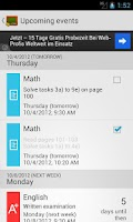 Screenshot of My Class Schedule: Timetable