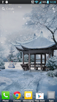Screenshot of Snow In The Park LWP Free
