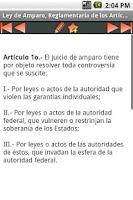 Screenshot of Ley de Amparo