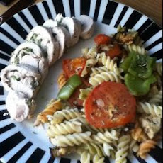 Yummy Turkey Roulade With Roasted Veg And Pasta