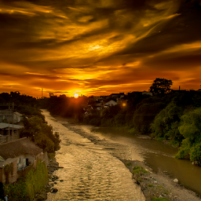 Gladak Kembar Golden Hour by Wiji Yudhi - Landscapes Sunsets & Sunrises ( sunset, jember; view, landscape, golden )
