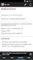 Screenshot of Bil Info nummerplade