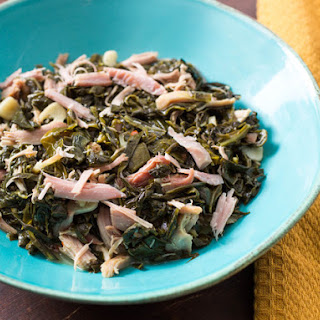 Smoked Turkey Braised Collard Greens