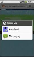 Screenshot of AutoSend