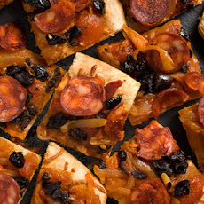 Chorizo and Olive Flatbread Recipe