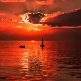 Harbour sunset 2 by Stanislav Horacek - Landscapes Sunsets & Sunrises