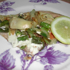 Kumquat's Spring Pizza With Asparagus and Artichoke Hearts