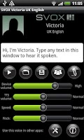 Screenshot of SVOX UK English Victoria Trial
