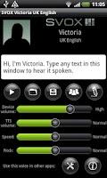 Screenshot of SVOX UK English Victoria Trial