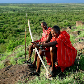 Masai Warriors by Benny Berget - People Couples (  )