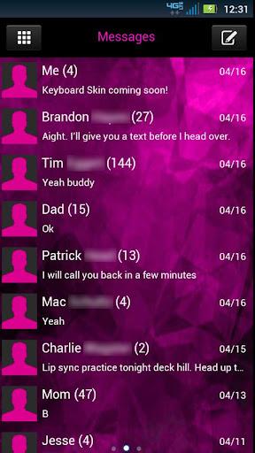 GO SMS Evil Pink Theme