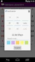 Screenshot of Calendario 2014-2015 Colombia