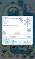 Screenshot of Kawaii Christmas Go Sms Pro