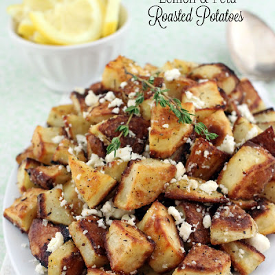 Lemon & Feta Roasted Potatoes