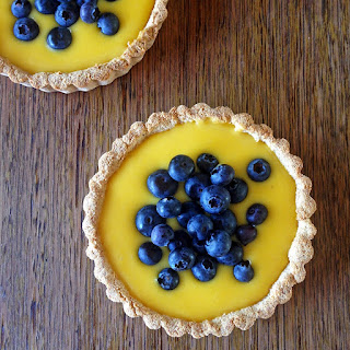 Lemon Curd And Blueberry Tarts