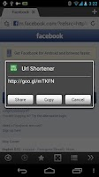 Screenshot of Boat URL Shortener Add-on
