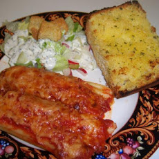 Manicotti W/Turkey, Cremini Mushrooms & Ricotta Cheese
