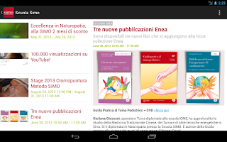 Screenshot of Scuola Simo