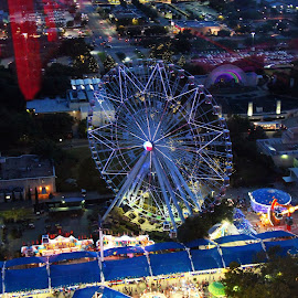 TOP OF THE WHEEL by Fred Regalado - City,  Street & Park  Amusement Parks