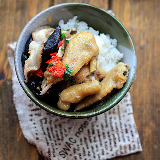 Steamed Chicken with Chinese Mushroom
