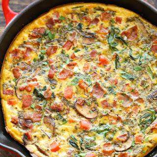 Tomato Mushroom Basil Frittata Recipes