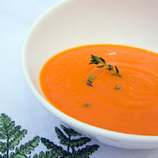 Chilled Carrot and Orange Soup
