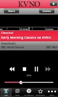 Screenshot of KVNO Public Radio App