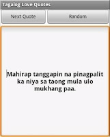 Screenshot of Tagalog Love Quotes