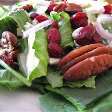 Cranberry and Toasted Pecan Salad with Raspberry Dijon Vinaigrette