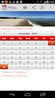 Screenshot of Philippines Calendar 2015