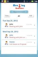Screenshot of Meeting Reminder