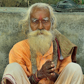 Submission by Saikat Kundu - People Portraits of Men ( prayer, submissive, old, color, white, natural, close up, man,  )