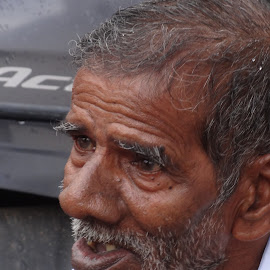 old man by Karpagam Kannan - People Portraits of Men ( faces, oldman, photo, people, portrait )
