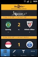Screenshot of Bet 2 Win - Soccer Betting