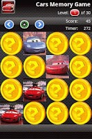 Screenshot of Cars Matching Game