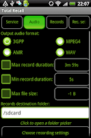 Screenshot of Total Recall Recorder X10 Demo