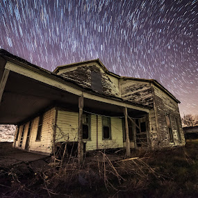 Back in time by Brett Wright - Buildings & Architecture Decaying & Abandoned ( astrography, d800, stars, night, house, nikon, landscapes, startrails, milky way )